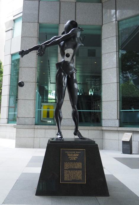 CBD sculptures - Homage to Newton by Salvador Dali