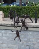 Riverside sculptures